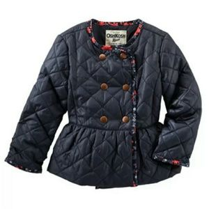 OshKosh Quilted Peplum Jacket ~ Sz 12